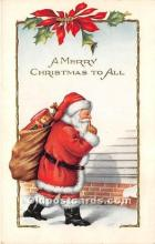 hol016157 - Santa Claus Postcard Old Vintage Christmas Post Card