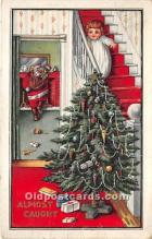 hol016159 - Santa Claus Postcard Old Vintage Christmas Post Card
