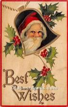 hol016164 - Santa Claus Postcard Old Vintage Christmas Post Card