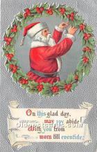 hol016166 - Santa Claus Postcard Old Vintage Christmas Post Card