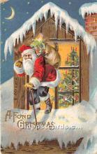 hol016168 - Santa Claus Postcard Old Vintage Christmas Post Card