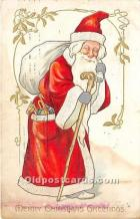 hol016169 - Santa Claus Postcard Old Vintage Christmas Post Card