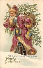 hol016171 - Santa Claus Postcard Old Vintage Christmas Post Card