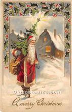 hol016172 - Santa Claus Postcard Old Vintage Christmas Post Card