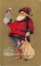 hol016173 - Santa Claus Postcard Old Vintage Christmas Post Card