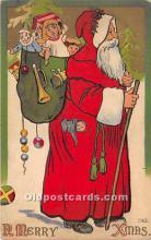 hol016174 - Santa Claus Postcard Old Vintage Christmas Post Card