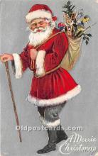 hol016175 - Santa Claus Postcard Old Vintage Christmas Post Card