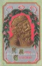 hol016177 - Santa Claus Postcard Old Vintage Christmas Post Card
