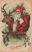 hol016179 - Santa Claus Postcard Old Vintage Christmas Post Card