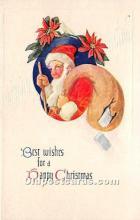 hol016180 - Santa Claus Postcard Old Vintage Christmas Post Card