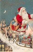 hol016182 - Santa Claus Postcard Old Vintage Christmas Post Card