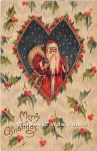 hol016183 - Santa Claus Postcard Old Vintage Christmas Post Card