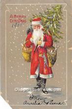 hol016184 - Santa Claus Postcard Old Vintage Christmas Post Card
