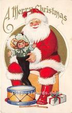 hol016185 - Santa Claus Postcard Old Vintage Christmas Post Card