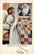 hol016187 - Santa Claus Postcard Old Vintage Christmas Post Card