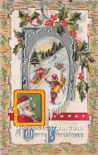 hol016188 - Santa Claus Postcard Old Vintage Christmas Post Card