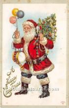 hol016189 - Santa Claus Postcard Old Vintage Christmas Post Card