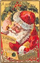 hol016191 - Santa Claus Postcard Old Vintage Christmas Post Card