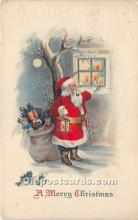 hol016193 - Santa Claus Postcard Old Vintage Christmas Post Card