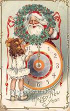 hol016194 - Santa Claus Postcard Old Vintage Christmas Post Card