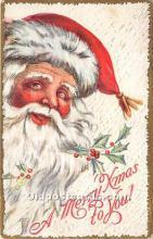 hol016195 - Santa Claus Postcard Old Vintage Christmas Post Card