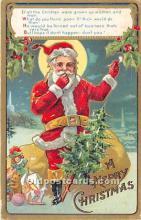 hol016197 - Santa Claus Postcard Old Vintage Christmas Post Card