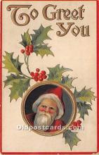 hol016198 - Santa Claus Postcard Old Vintage Christmas Post Card
