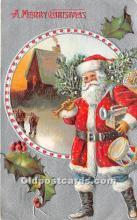 hol016199 - Santa Claus Postcard Old Vintage Christmas Post Card