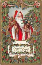 hol016202 - Santa Claus Postcard Old Vintage Christmas Post Card