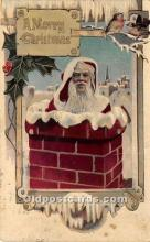 hol016205 - Santa Claus Postcard Old Vintage Christmas Post Card