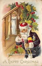 hol016206 - Santa Claus Postcard Old Vintage Christmas Post Card
