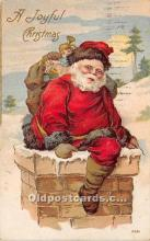 hol016207 - Santa Claus Postcard Old Vintage Christmas Post Card