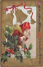 hol016208 - Santa Claus Postcard Old Vintage Christmas Post Card