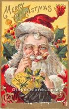 hol016209 - Santa Claus Postcard Old Vintage Christmas Post Card