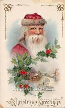 hol016210 - Santa Claus Postcard Old Vintage Christmas Post Card