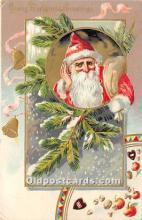 hol016213 - Santa Claus Postcard Old Vintage Christmas Post Card