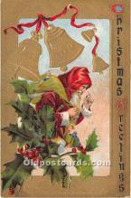 hol016214 - Santa Claus Postcard Old Vintage Christmas Post Card
