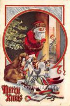 hol016216 - Santa Claus Postcard Old Vintage Christmas Post Card