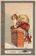 hol016217 - Santa Claus Postcard Old Vintage Christmas Post Card