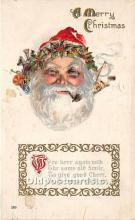 hol016218 - Santa Claus Postcard Old Vintage Christmas Post Card
