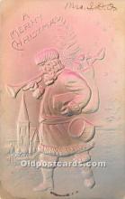 hol016219 - Santa Claus Postcard Old Vintage Christmas Post Card