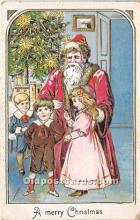 hol016222 - Santa Claus Postcard Old Vintage Christmas Post Card