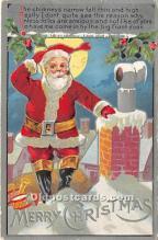 hol016223 - Santa Claus Postcard Old Vintage Christmas Post Card