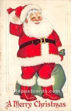 hol016227 - Santa Claus Postcard Old Vintage Christmas Post Card