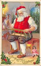 hol016229 - Santa Claus Postcard Old Vintage Christmas Post Card