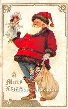 hol016230 - Santa Claus Postcard Old Vintage Christmas Post Card