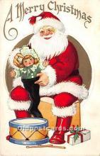 hol016232 - Santa Claus Postcard Old Vintage Christmas Post Card