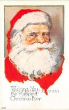 hol016235 - Santa Claus Postcard Old Vintage Christmas Post Card
