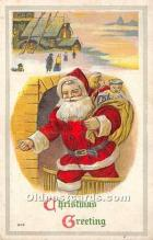 hol016238 - Santa Claus Postcard Old Vintage Christmas Post Card