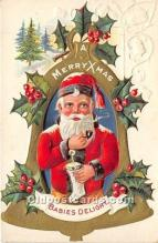 hol016239 - Santa Claus Postcard Old Vintage Christmas Post Card